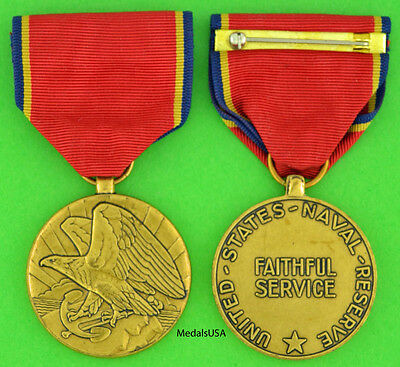 Navy Reserve 10 Year Medal - Full size made in the USA - USNR USM102M