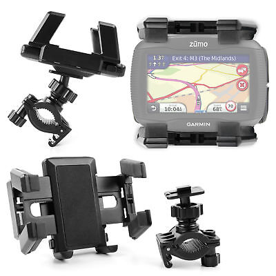Bike Mount For Garmin Zumo 340 LM Sat Nav With Secure Grip & Rotating Holder