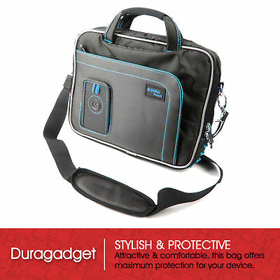 "Black & Blue Storage Case For Sylvania SDVD7014-MPINK Portable 7"" DVD Player"