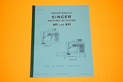 Singer Authorized Service Manual on CD for Classes 611 and 631 Sewing Machines.