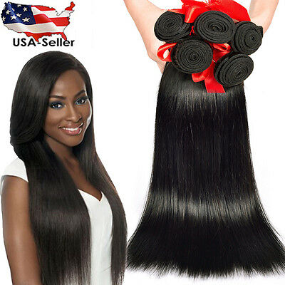 Silky Straight Brazilian Virgin Remy Human Hair Bundle Extra Thick Weave 1 or 3