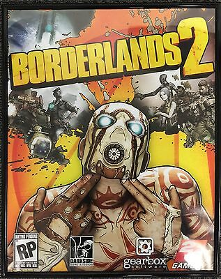 "Used Borderlands 2 with Black Acrylic Framed Poster Artwork Print 22""x16.5"""