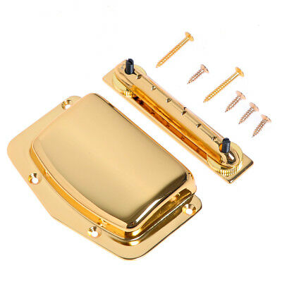 Gold Adjustable Fixed Bridge Tailpiece For Vintage Teisco Electric Guitar Parts