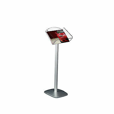 A4 Landscape Floor Standing Leaflet Holder Brochure Menu Dispenser Display Stand
