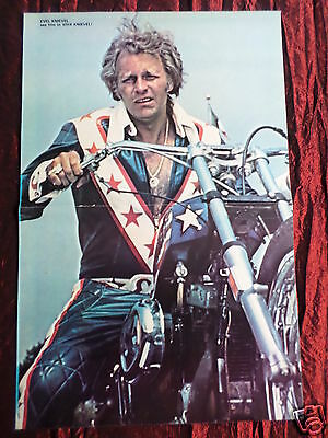Evel Knievel - Magazine Clipping- ( Centrespread Picture ) Pin -Up