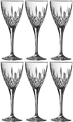 Royal Doulton Crystal Earlswood 6 Wine Goblets (Boxed) - New