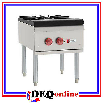 "Wolf WSPR1 Single Section Stock Pot Stove / Range 18"" x 24.5"" NG/LP"