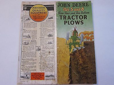 1938 John Deere Nos. 5 & 6 Three Four Five Bottom Tractor Plows LOTS More Listed