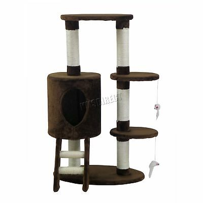FoxHunter Cat Tree Scratching Post Activity Centre Bed Toys Scratcher M004 Brown