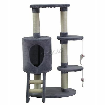 FoxHunter Cat Tree Scratching Post Activity Centre Bed Toys Scratcher M004 Grey