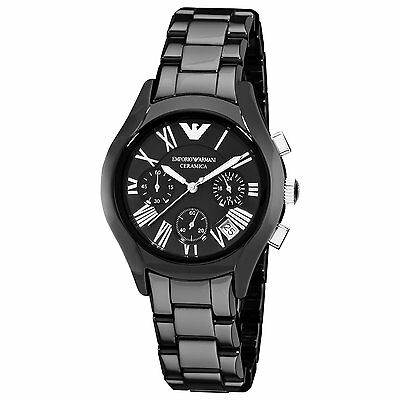 Emporio Armani® watch AR1401 Ladie`s Black Ceramica
