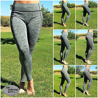 High Waist LEGGINGS Running Yoga Workout Exercise Fitness Spandex Activewear