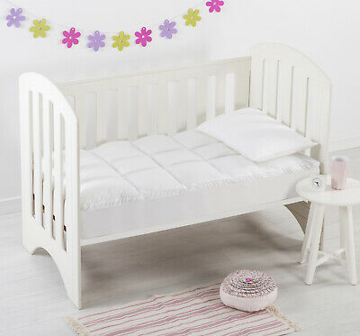 New Baby Cot Mattress Topper 100% Breathable Cotton Cover Boori & Standard Size