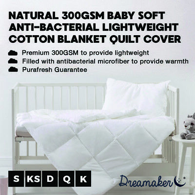 New Down Alternative Cot Quilt Baby Bedding 100% Natural Cotton Anti-bacterial