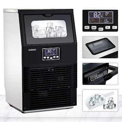Commercial Ice Maker Auto Ice Cube Making Machine Stainless Steel Bar Restaurant