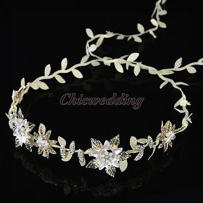 NEW Flower & Leaves Bridal Wedding Headbands Hair Vine Band Headpieces Accessory
