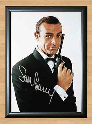 Sean Connery James Bond 007 Dr. No Signed Autographed A4 Photo Print Poster dvd