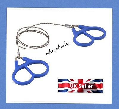 Steel Wire Saw Bushcraft Hiking Emergency Camping Hunting Survival Tools UK