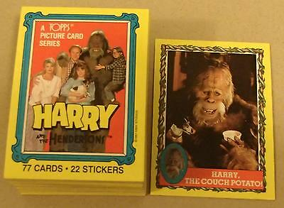 Harry And The Hendersons Complete Trading Card Set Vintage 1987