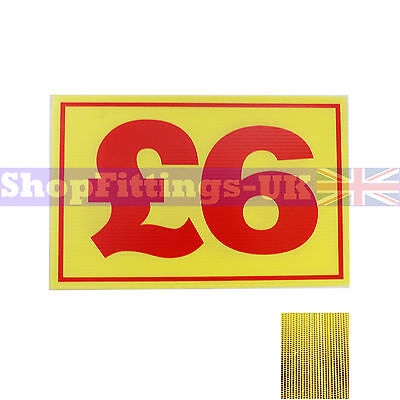 £6 Market Trader Correx Price Card Sign Board for Retail display,Market Stalls
