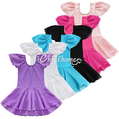 Toddler Girls Gymnastics Ballet Dance Tutu Dress Leotard Skirt Costume Dancewear