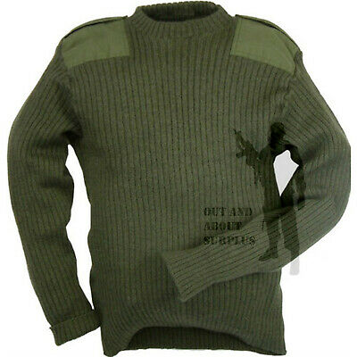 British Army Commando Jumper Army Surplus Pullover Military Cadet Wool Green