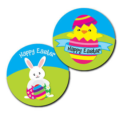 Happy Easter Day Stickers - 30mm - crafts and cardmaking - 144 in pack