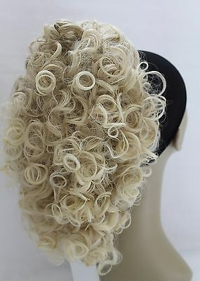 """New Luscious Curly Synthetic Claw Clip Ponytail Hair Piece up do Clipin bun12""""UK"""