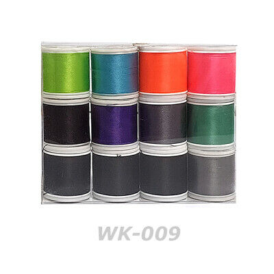 Lot of 12ea - Rodcraft Wrapping Nylon Thread D size 100yd Rod Building (WK-003)