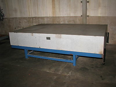 """10' X 7' X 18"""" Thick Gray Granite Surface Plate with Stand"""