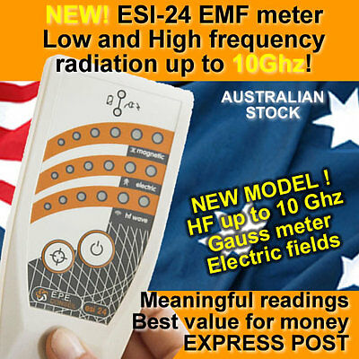 NEW! More serious EMF gauss meter ESI24 + EMLF ELF and RF to 10Ghz! Electrosmog