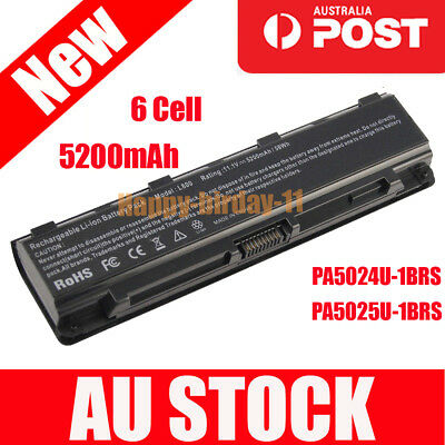 Laptop Battery for TOSHIBA Satellite PA5024U-1BRS PABAS260 C850 C850D 5200mAh