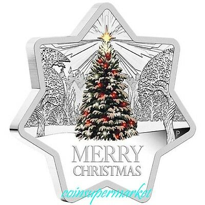 2015 Christmas 1oz Silver Star Shaped Coin Perth Mint Gift Card Presentation !!!