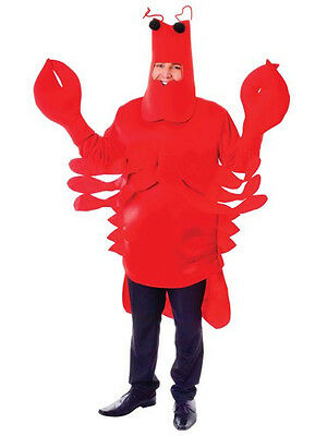 Adult New Unisex Red Lobster Complete Outfit Fancy Dress Sea Animal Costume New