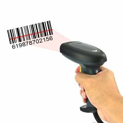 Automatic USB Laser Scan Barcode Scanner Bar Code Reader Black Handheld / Stand