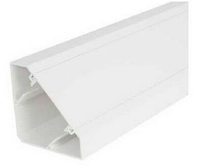 White PVC Bench Trunking 3m Lengths with choice of various accessories.....