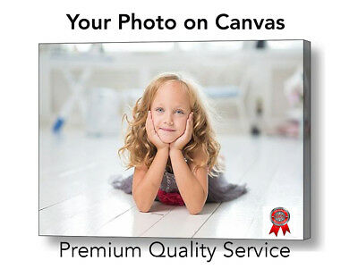 "Your Photo Picture Canvas Print - Personalised Canvas Ready to Hang 16"" x 12"" A3"