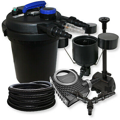 Kit filtration bassin pression 10000l UVC NEO10000 Pompe Tuyau Skimmer Fontaine • EUR 273,89