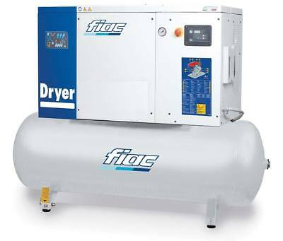 Fiac Rotary Screw Air Compressor with Refrigerated Dryer 10HP 270 Litre 415V