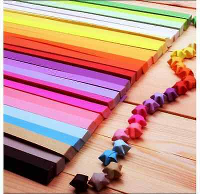 ORIGAMI LUCKY STAR PAPER (80 STRIPS) - 10 colors comb pack