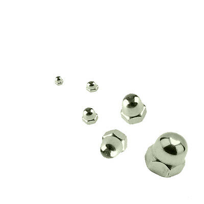 Dome Nuts - A4 MARINE GRADE Stainless Steel M10 (10mm Internal Diameter)