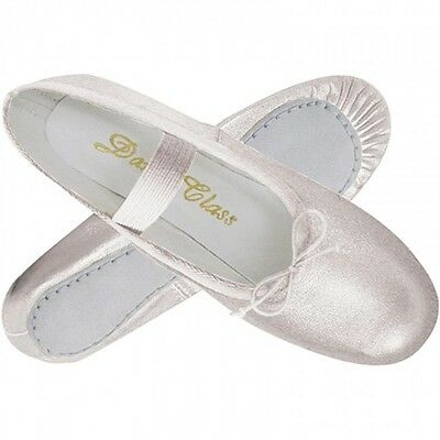 Women's Silver Ballet Slipper Shoe for Dance or Weddings, New