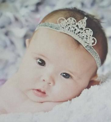Beautiful Tiara Headband,Rhinestone Princess,Newborn Baby Toddler,GIRL