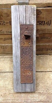 ANTIQUE IRON ORNATE DOOR PUSH PLATE-unique! -6