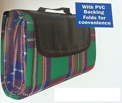Picknic picnic travel rug blanket car pet dog or seat cover WATERPROOF backing