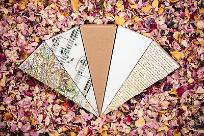 Wedding Confetti Cones Music Maps Love Letters 25 50 75 100 Guests