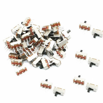 50Pcs SS12D00G3 2 Position SPDT 1P2T 3 Pin PCB Panel Mini Vertical Slide Switch