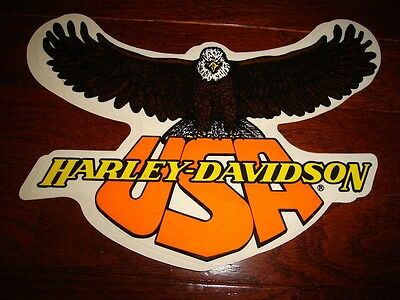 """Harley Davidson Large Usa Eagle Decal 9.5"""" X 6.5"""" (Outside)New Wow!"""