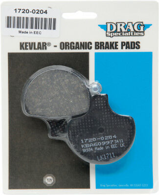 Drag Specialties Organic Aramid Front Brake Pads Single Set For Harley 1720-0204