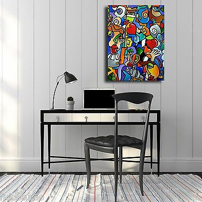 Abstract canvas print Modern Home Decor HUGE Wall pop Art by Fidostudio